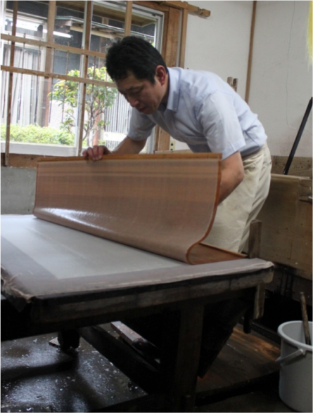 Figure 8.  Traditional Japanese paper making at Hasegawa Washi Kobo.