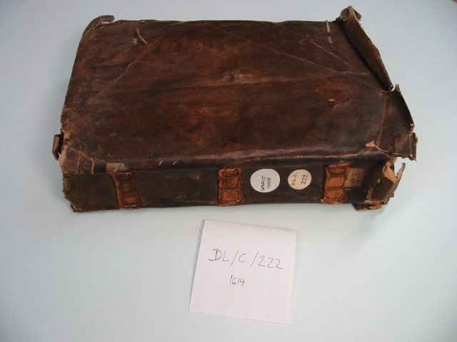 Fig. 4 DL/C/222, LMA, London – tacketed parchment binding without boards